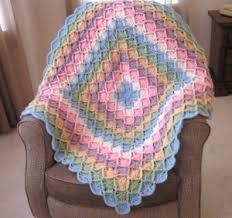 Free Crochet Baby Afghan Patterns Awesome Bavarian Rainbow Afghan FaveCrafts