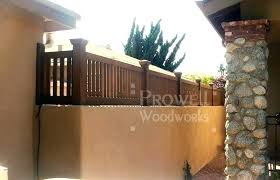 vinyl block wall extension cost wood fence topper for concrete walls home ideas tv home studio vinyl block wall
