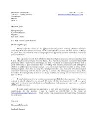 Child Care Cover Letter No Experience Australia Best Ideas Of Child