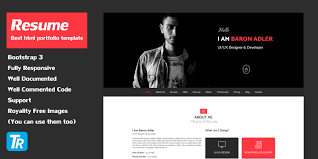 Resume Website Template Resume Personal Portfolio Web Template HTML Resume Website 10