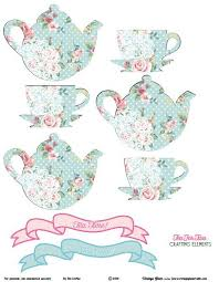 Tea Party Free Printables Shabby Chic Tea For Two Crafting Elements Free Printable