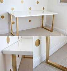 diy lacquer furniture. And A Gold Base Makes This White Lacquer Table...Inspiration To Use The Diy Furniture E