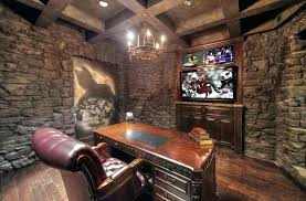 office man cave. Modren Office Man Cave Office Desk Stone Wall With  Wood   In Office Man Cave