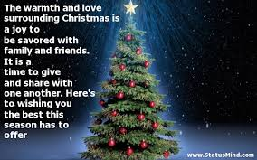 Christmas Quotes About Love Simple The Warmth And Love Surrounding Christmas Is A Joy StatusMind