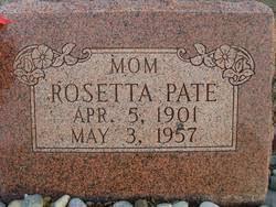Rosetta Vaught Pate (1901-1957) - Find A Grave Memorial