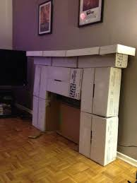 creative cardboard box fireplace for your made myself a fireplace out of cardboard of cardboard