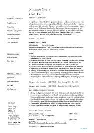 Babysitting Resume Template Impressive Child Care Resume Templates Free Children Sample Template Job