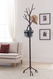 Metal Coat Rack Tree Amazon Kings Brand Bronze Finish Metal Hall Tree Coat Hat 6