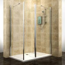 cooke u0026 lewis deluvio rectangular walkin entryshower enclosure with  pivot splash panel with walkin entry w1200mm