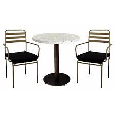 terrazzo granito dining set