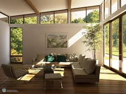 in most houses the living room is accessed through the main entrance door and therefore is the first place into which the outside energy positive or
