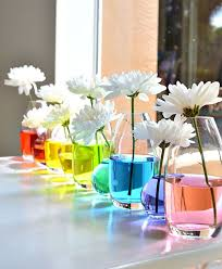 colorful baby shower decorations. spring baby shower decorations: colorful vases decorations o