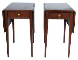 Henkel Harris Dining Table Henkel Harris Mahogany Drop Leaf Pembroke Side End Table Pair