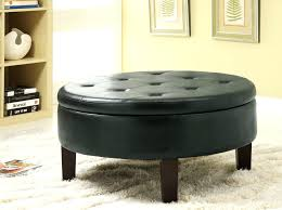 round leather ottoman coffee table as glass on installing the amazing leatherabbyson living havana abbyson gold brown tufted tableround tables ives designer