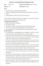 behavior modification plan template co behavior modification plan template 5 word pdf format