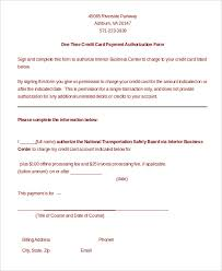 Download One Time Credit Card Payment Authorization Form Template