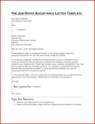 Lovely Acceptance Letter Job Offer Sample Mailing Format
