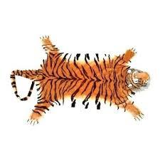 plush animal rug tiger stuffed zebra