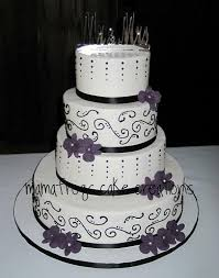 beautiful white and purple wedding cakes. Beautiful Black White And Purple Wedding Cake Provided By Mon Petite To Cakes