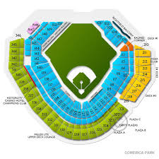 Comerica Park Seating Chart By Rows Comerica Park Seating Chart View Seats Comerica Park Seating