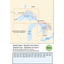 Canadian Hydrographics Cen A Electronic Charts Enc Great Lakes Superior And Huron