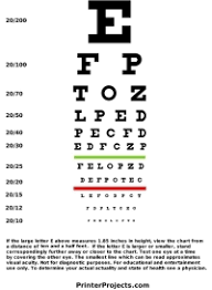 Standard Eye Test Chart Printable Printable Snellen Eye Chart