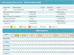 Student attendance record - Office Templates
