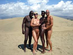 Wife swap nude beach