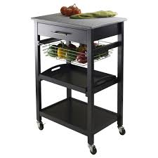 Granite Top Kitchen Cart Winsome Julia Kitchen Cart With Granite Top Reviews Wayfair