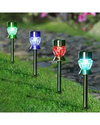 color changing solar garden lights. Maggift Solar Pathway Lights Diamond Glass Outdoor Color Changing Stainless Steel Garden