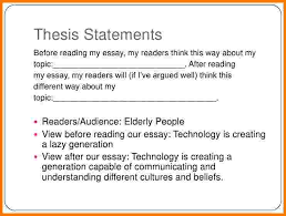 Thesis Statement Template Clever Hippo