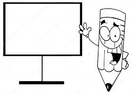 Cartoon Potlood Onderwijs Karakter Stockvector Hittoon 61074455