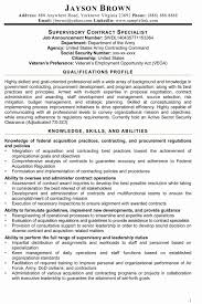 Sample Contract Specialist Resume Sample Resume For Contract Specialist Fresh Federal Contract 6