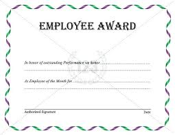 Green Nature Photo Employee Of The Month Certificate Best