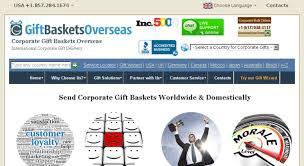 corporate giftbasketsoverseas screenshot