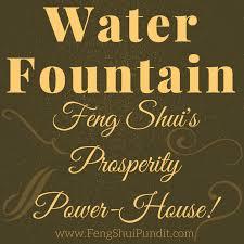 water fountain feng shui
