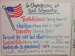best good citizen ideas citizenship  anchor chart i made for the characteristics of being a good citizen