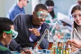 chemistry projects for college students th grade science fair  udla deeper engagement of all learners motivation and emotion four college students working on a chemistry chemistry projects