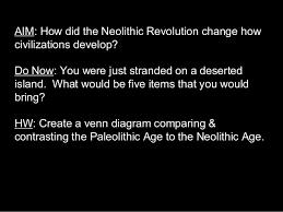 Neolithic And Paleolithic Venn Diagram 02 Neolithic Revolution