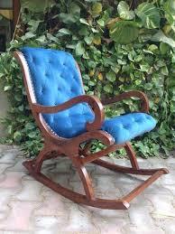 teak wood rocking chair cushion designer
