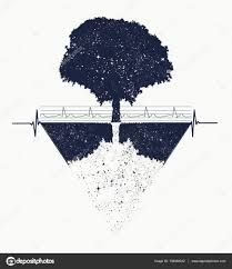 Strom života Tetování Geometrický Styl Mystic Kmenový Symbol