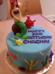 Ariel Cake Decorations Little Mermaid Cake Makes A Little Girls 3rd Birthday Super