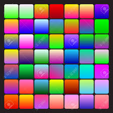 Set Of Two Coloured Bright Gradients Various Patterns Templates