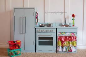 Childrens Wooden Kitchen Furniture Wonderful Pink And Blue Play Kitchen With Complete Features Kid