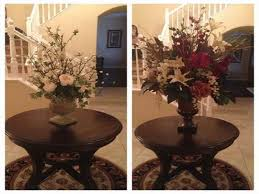 image of entryway round table decoration