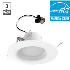 ecosmart 65 watt equivalent daylight 6 in white integrated led recessed trim 3