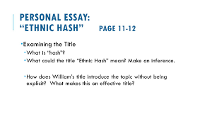 exploring cultural identity ppt video online  personal essay ethnic hash page 11 12