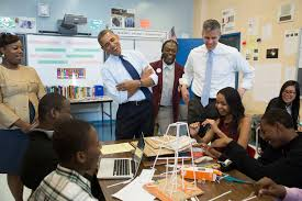 high school what it can and should be for america s students photo president barack obama and education secretary arne duncan a classroom