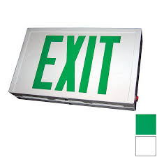 Exit Lights At Lowes Nicor Lighting Green Led Hardwired Exit Light At Lowes Com