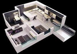 One Bedroom HouseApartment Plans - Studio apartment floor plans 3d